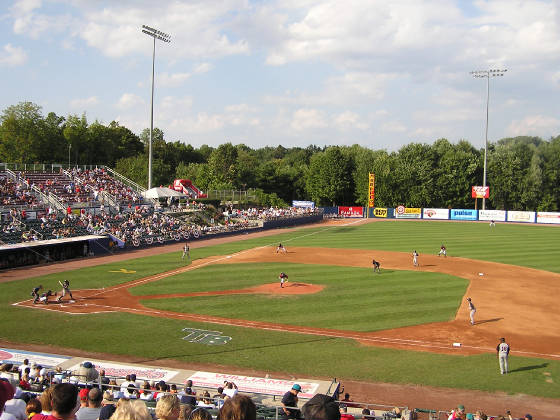Dutchess Stadium, from the 1st base stands
