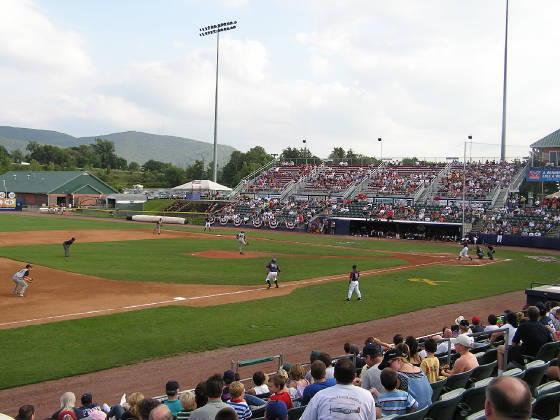 DUTCHESS STADIUM, from the 3rd base stands