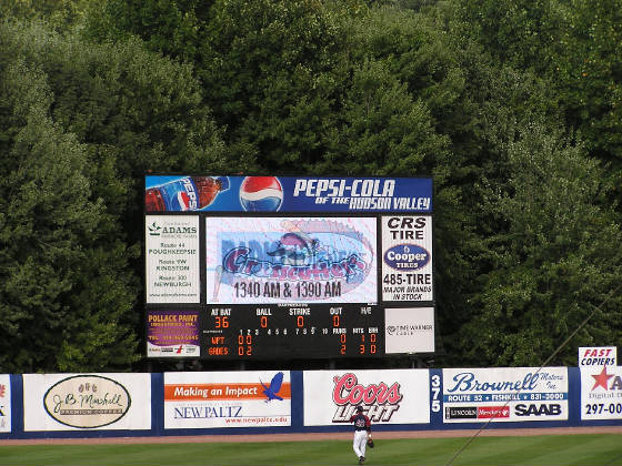 Scoreboard @ Dutchess Stadium, Fishkill, NY