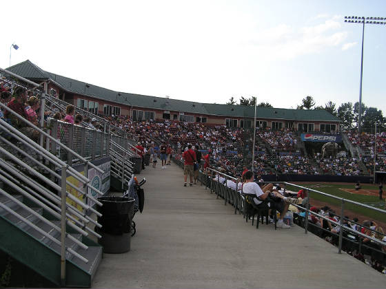 The walkway at Dutchess Stadium