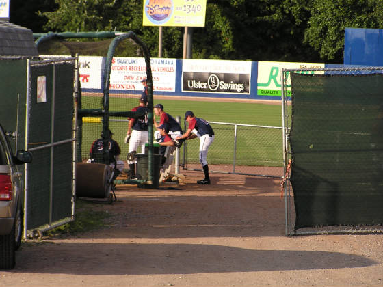 A peek into the bullpen .. Dutchess Stadium